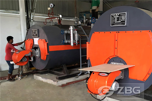 2 sets gas oil fired steam boiler application for Fertilizer factory