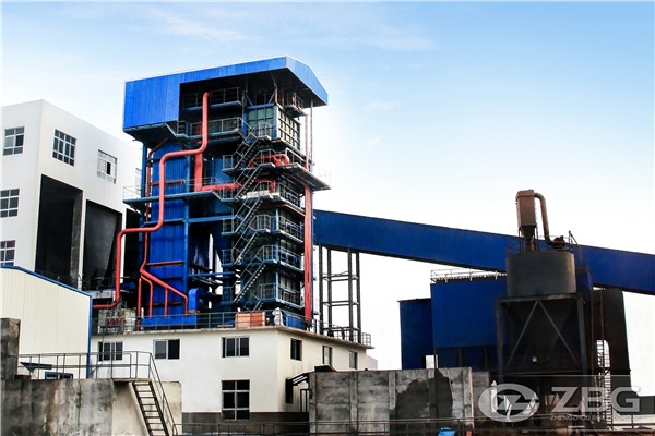 Boiler-turbine to produce electricity for palm oil factory